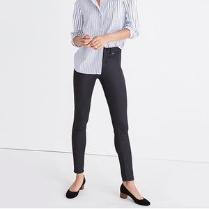 Madewell True Black High Rise Coated Skinny Jeans